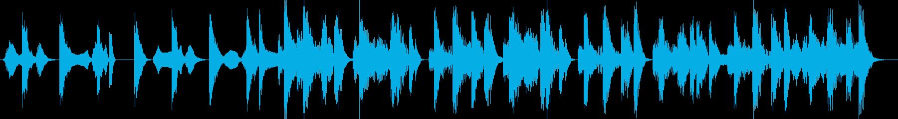 手拍子CM企業VP用の明るく楽しい曲の再生済みの波形