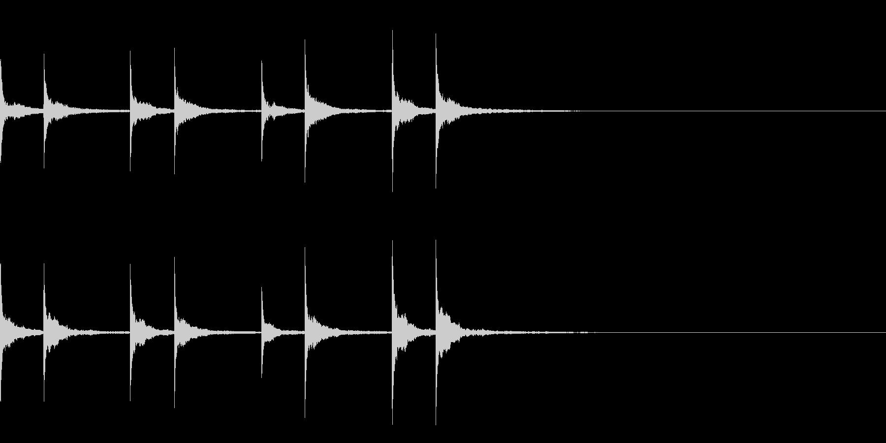 沖縄風通知音01の未再生の波形