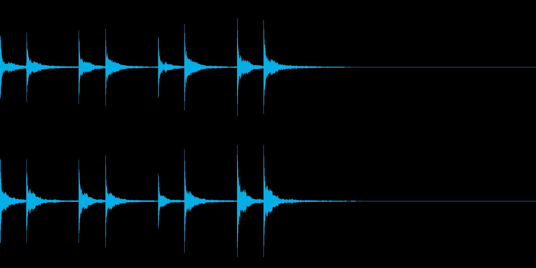 沖縄風通知音01の再生済みの波形