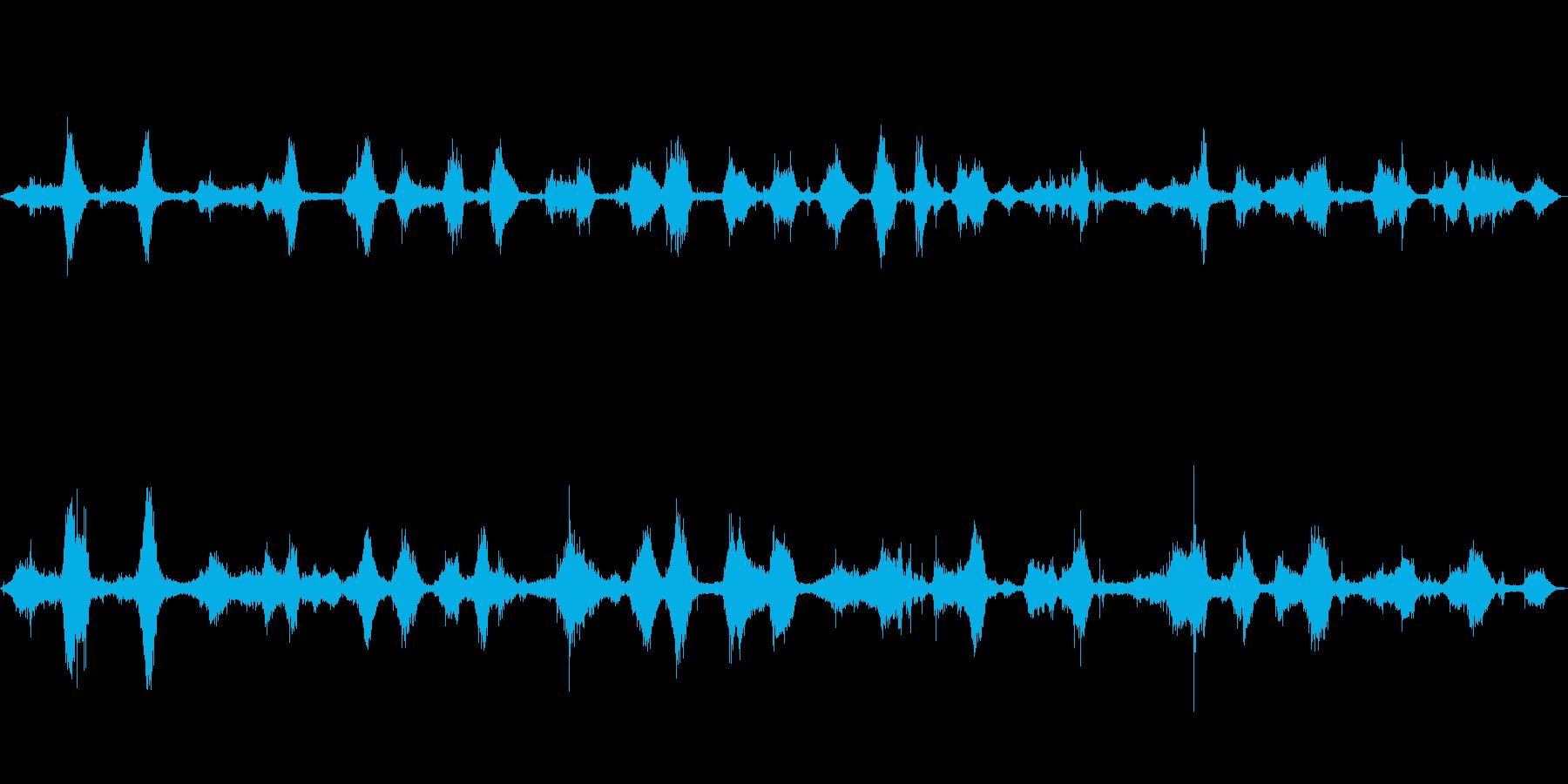 沖縄で近距離で収録した波の音です。の再生済みの波形