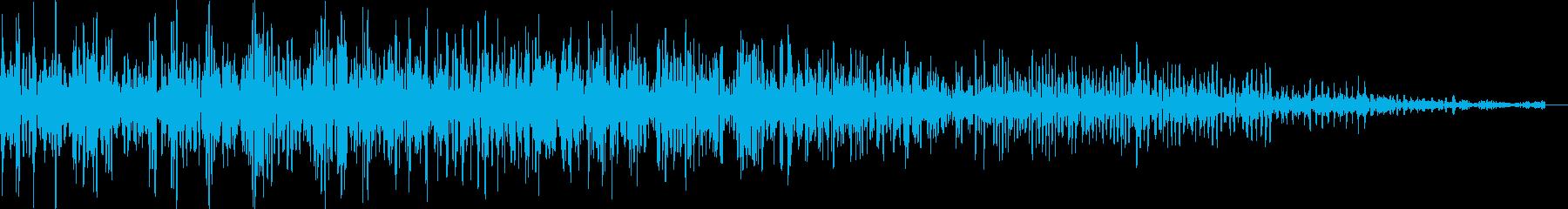 ロボットの動作音(遠くで響く)の再生済みの波形