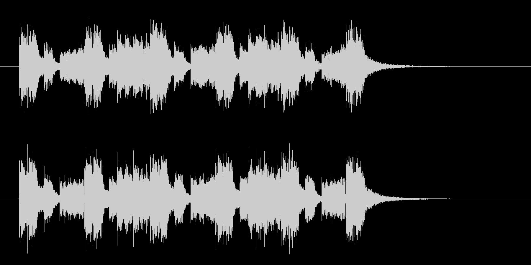 リズミカルな旋律が印象的なロックチューンの未再生の波形