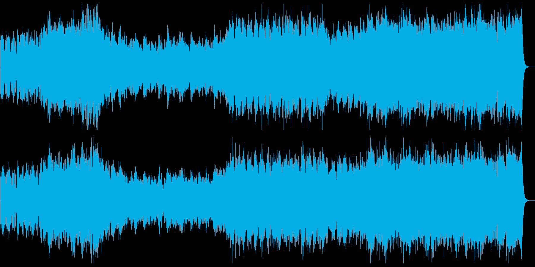 ハリウッド・オリンピック風ファンファーレの再生済みの波形