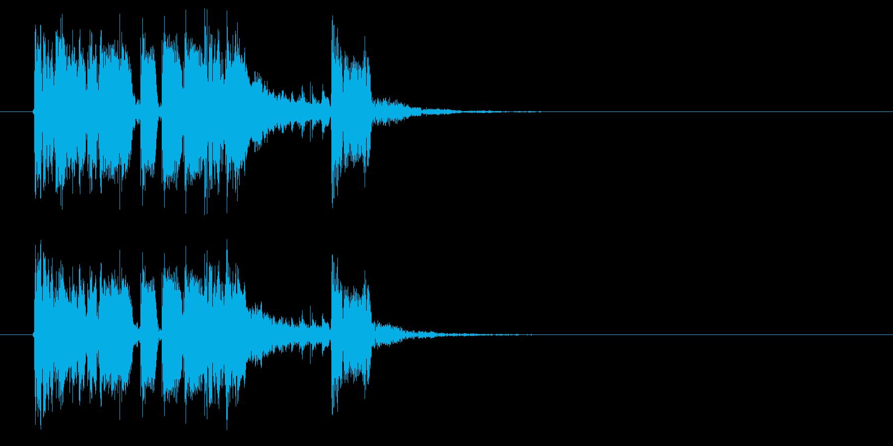 クールでワイルドなパンクロックジングルの再生済みの波形