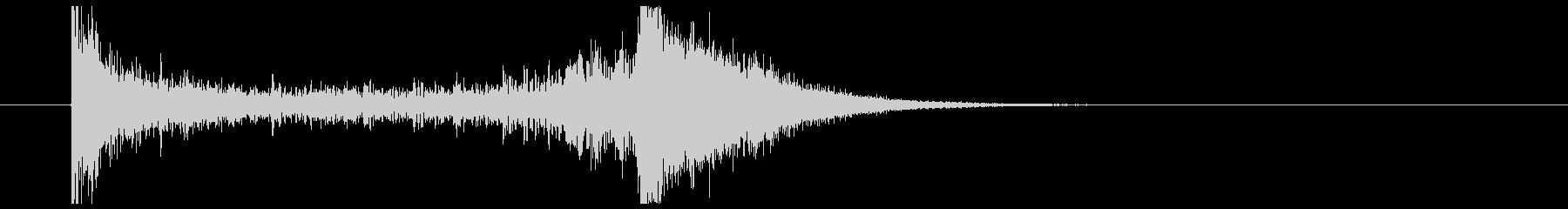 ティンパニーロール_シンバルあり(2秒)の未再生の波形