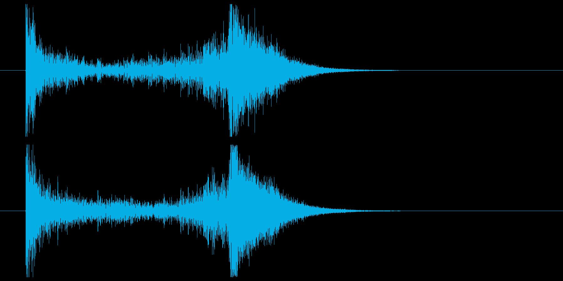 ティンパニーロール_シンバルあり(2秒)の再生済みの波形