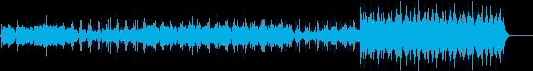 尺八と琴の優しい旋律+和太鼓の再生済みの波形