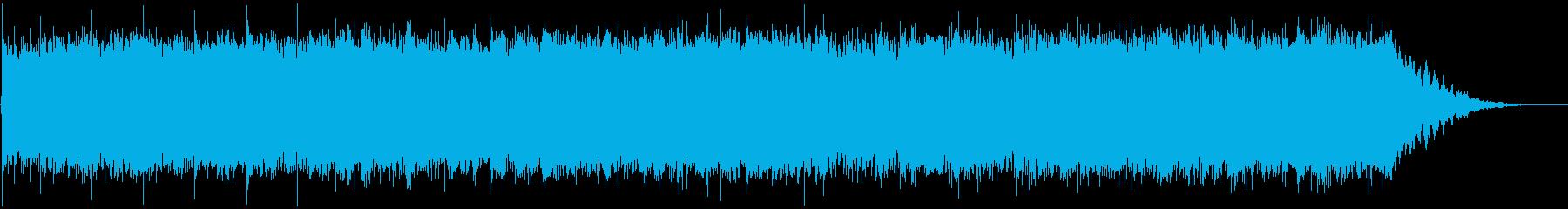 日常のイメージのシンセの優しい曲の再生済みの波形