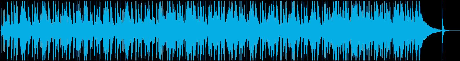 恐れや不安を感じるブルージーなBGMの再生済みの波形
