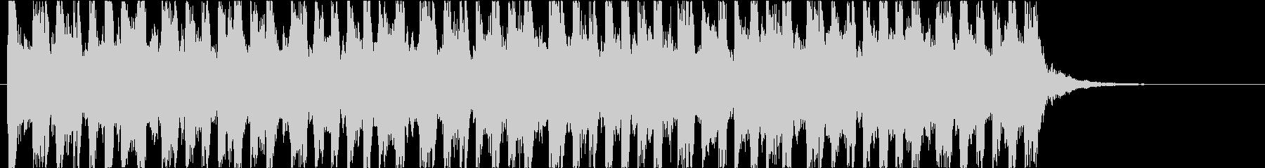 リズミカルなBGMの未再生の波形