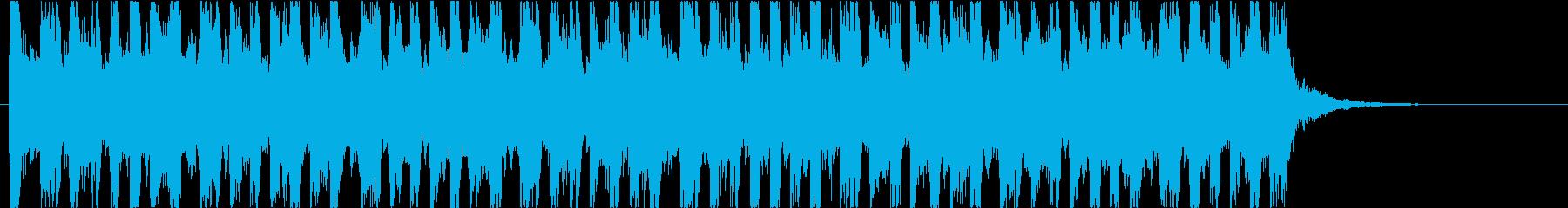 リズミカルなBGMの再生済みの波形