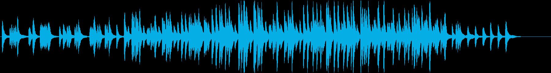 切なく静かなマリンバ系BGMの再生済みの波形
