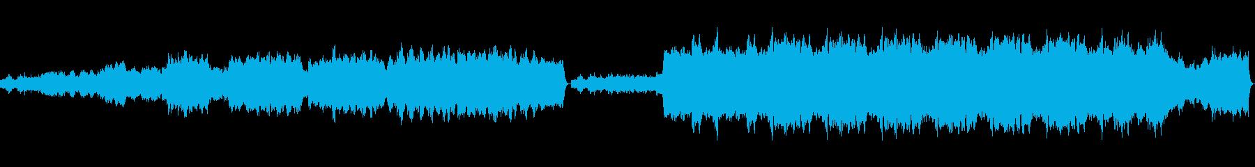 教会をイメージしたパイプオルガンソロの再生済みの波形