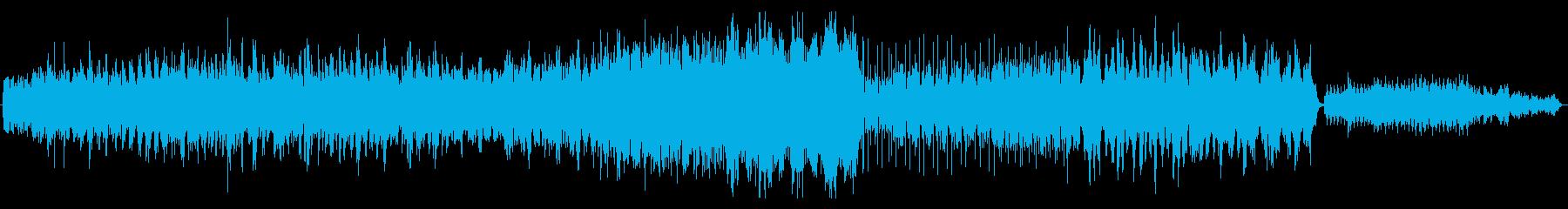 ピアノと弦のミニマルミュージックの再生済みの波形