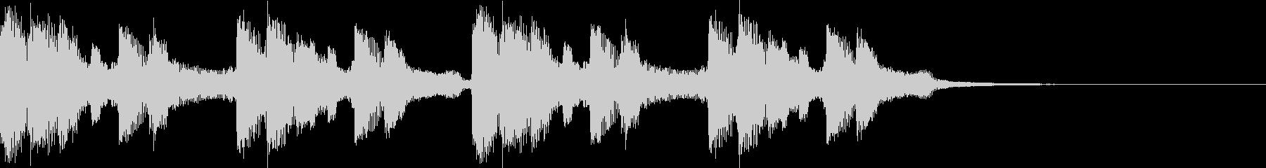 エレクトロなヒップホップジングルの未再生の波形