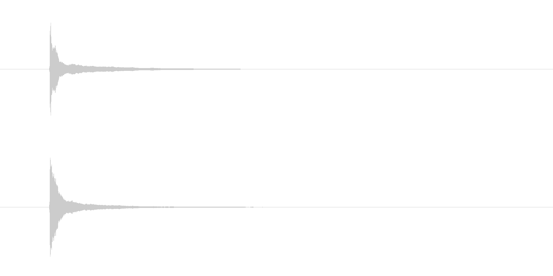 チーン クリスマス グロッケンベルの未再生の波形