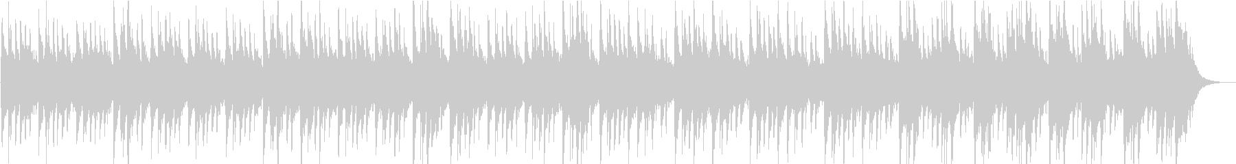 琴とクワイアの不穏な和風の曲の未再生の波形