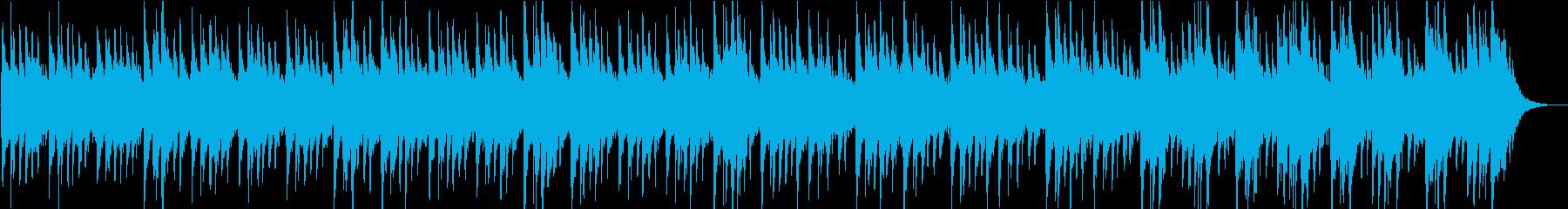 琴とクワイアの不穏な和風の曲の再生済みの波形