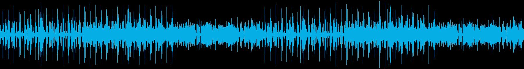 ポップなループジングルの再生済みの波形