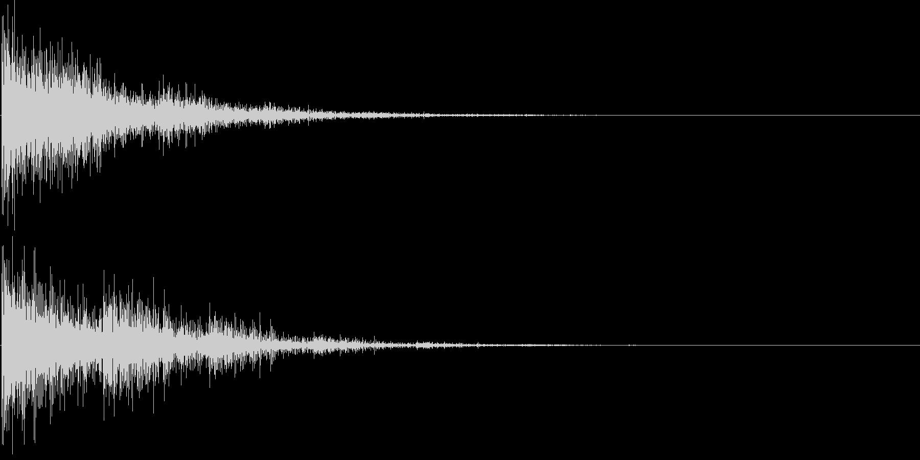 バン...。発砲音C1(低め・大げさ)の未再生の波形