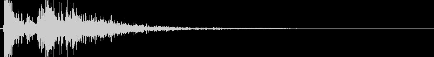 スナイパーライフルの狙撃音の未再生の波形
