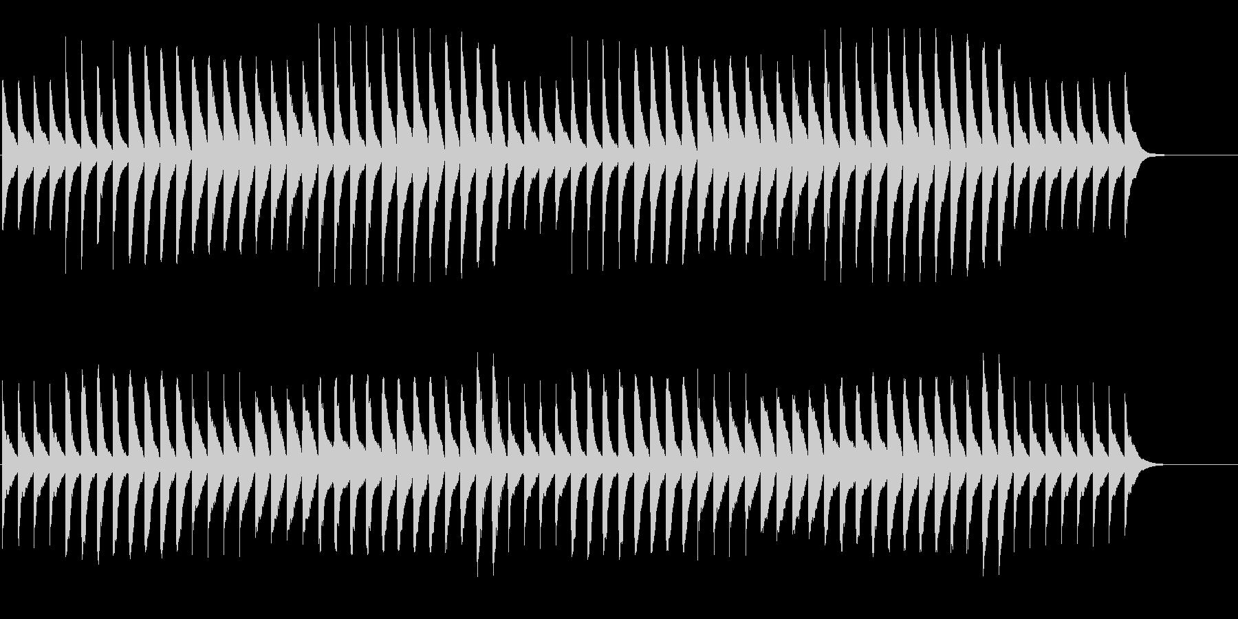 ジャッジメント 緊張の発表 ピアノのみの未再生の波形