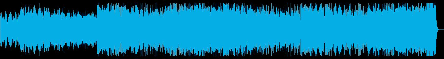 のどかな村や平原をイメージした日常曲の再生済みの波形