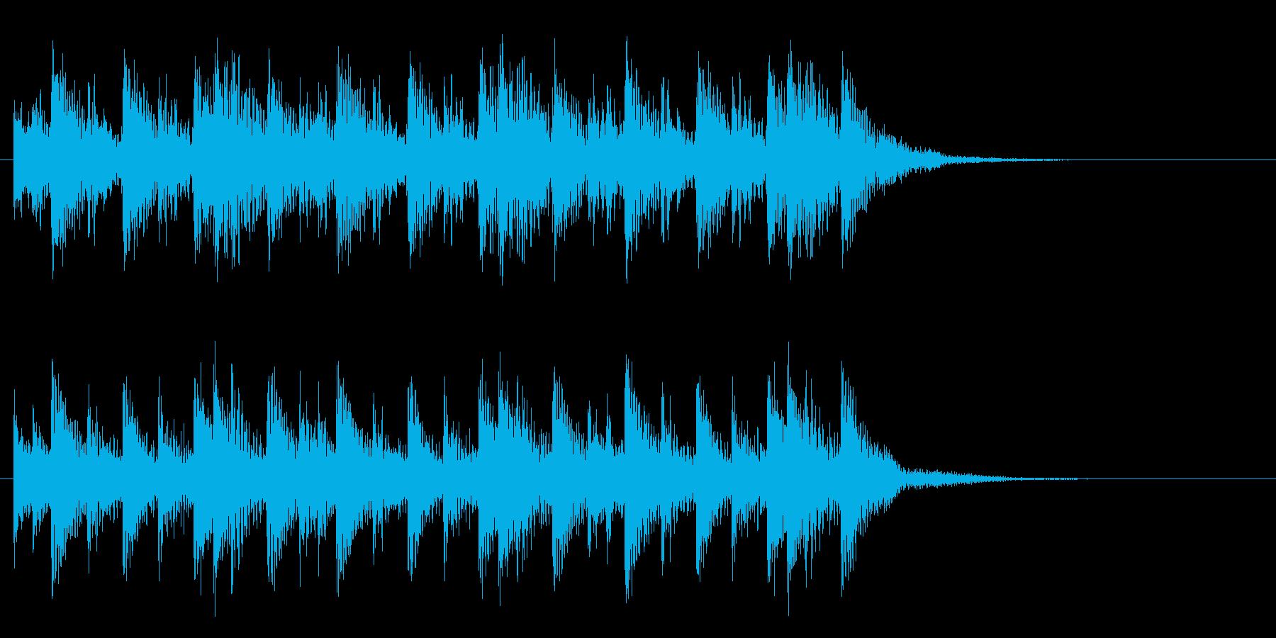 漫画のティンパニドラムの再生済みの波形