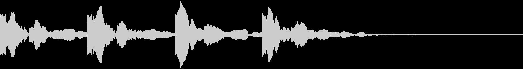 潜水艦の中のような電子音(4発)の未再生の波形