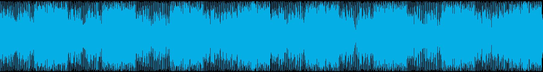 オシャレで軽快なハウスミュージックの再生済みの波形