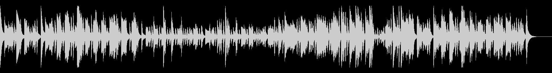 60秒の跳ねる日本のお祭り-ピアノソロの未再生の波形