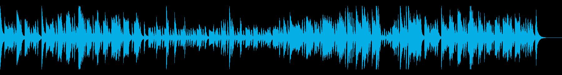 60秒の跳ねる日本のお祭り-ピアノソロの再生済みの波形