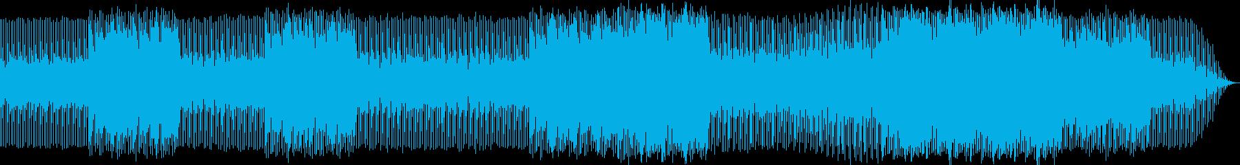 破滅に向かう雰囲気のエレクトロニカの再生済みの波形