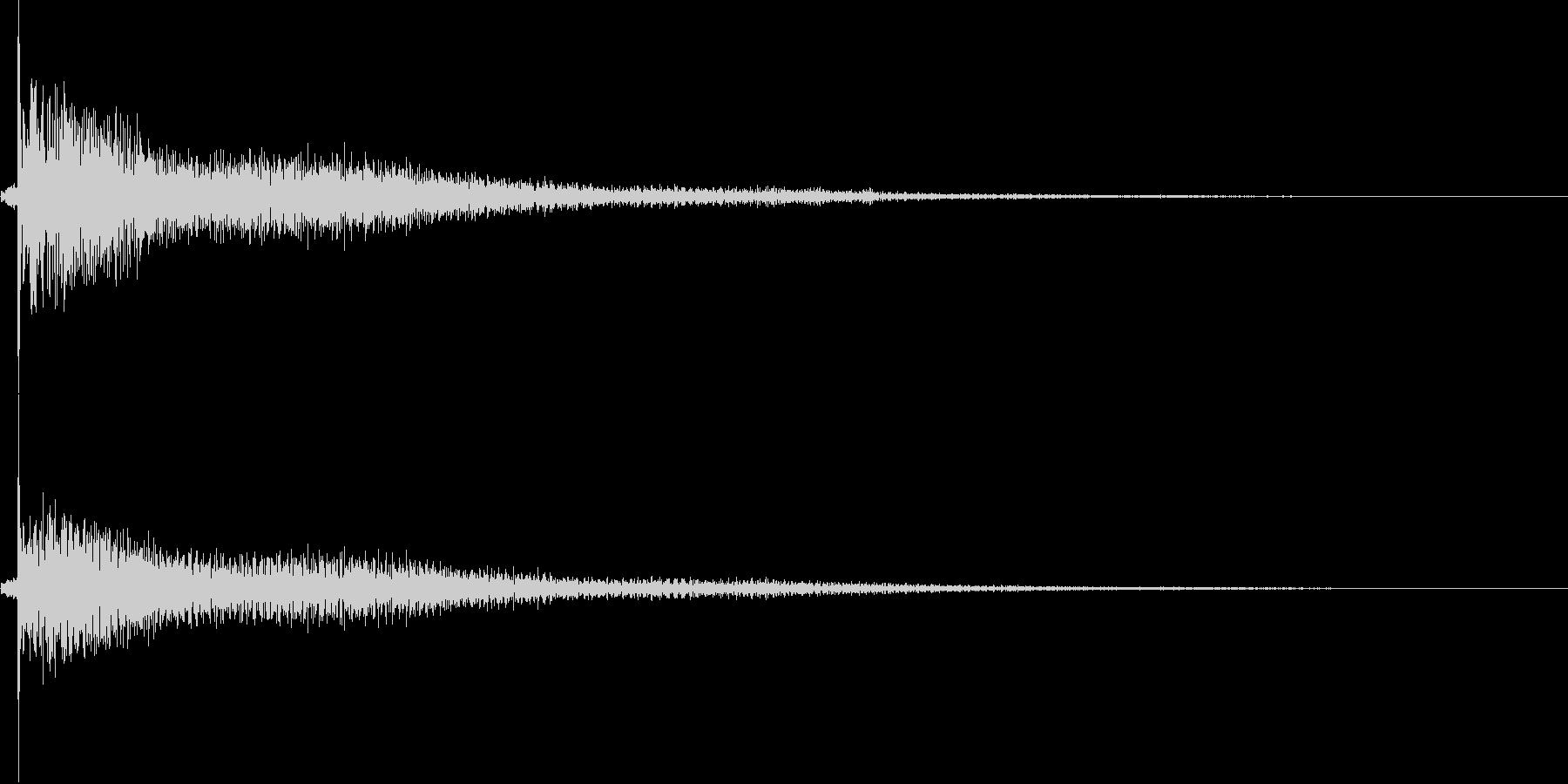 鐘 1の未再生の波形