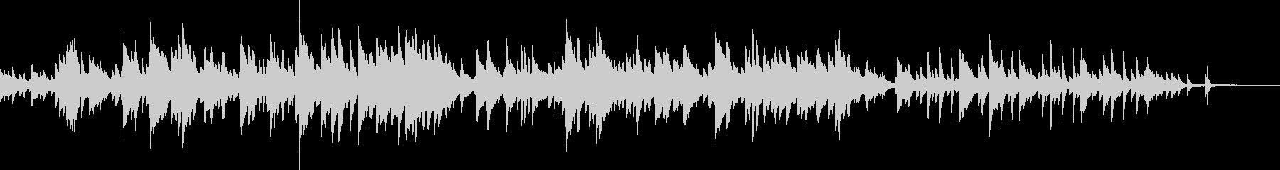 繊細で美しい喜びのピアノBGMの未再生の波形