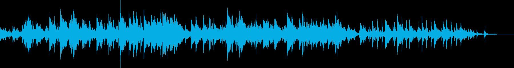 繊細で美しい喜びのピアノBGMの再生済みの波形