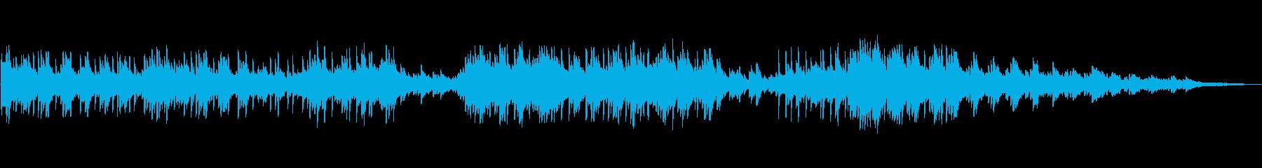 シリアスで重厚感のあるピアノ曲の再生済みの波形