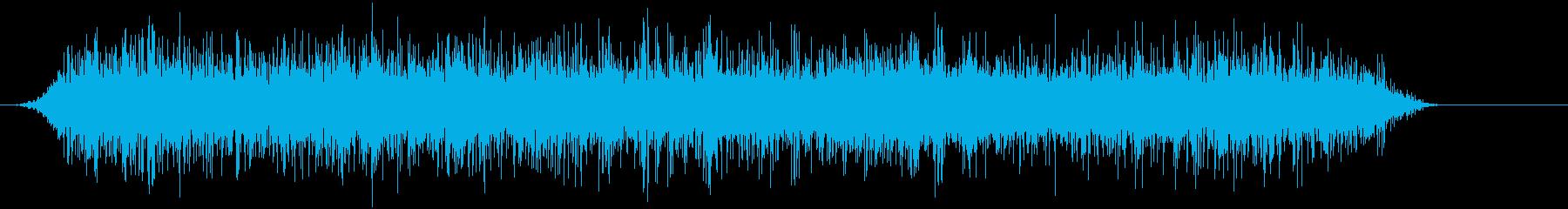 公園の噴水鳥の声の再生済みの波形
