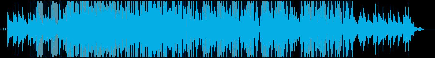都会っぽい雰囲気のローファイヒップホップの再生済みの波形