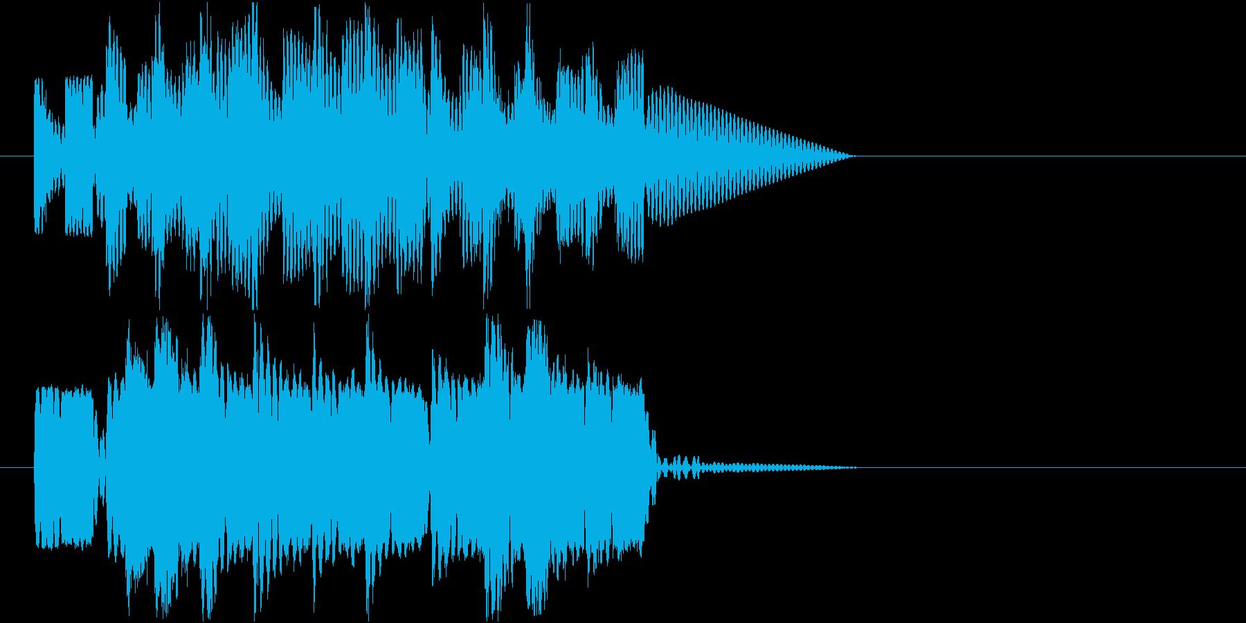 ロボットサウンド 機械音2の再生済みの波形