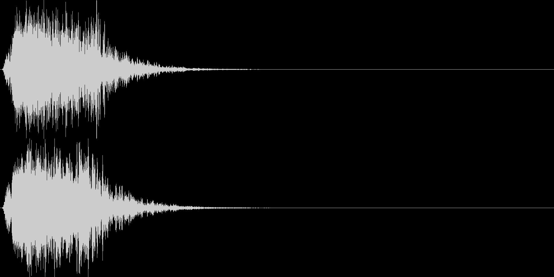 シャキーン(刀や剣、光、輝き、魔法)1bの未再生の波形