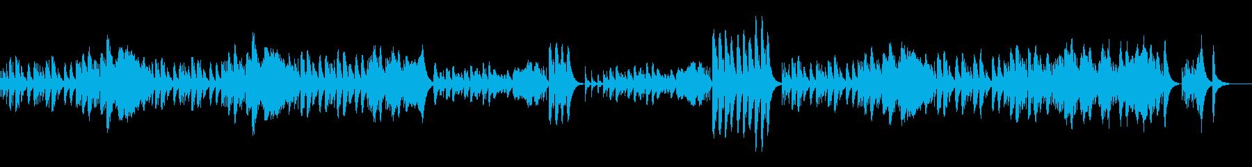かわいいゆったりとしたオルゴールの再生済みの波形