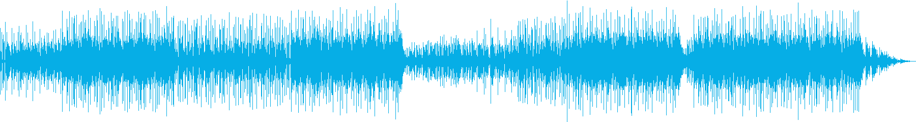 オシャレさ重視の和風リズムミュージックの再生済みの波形