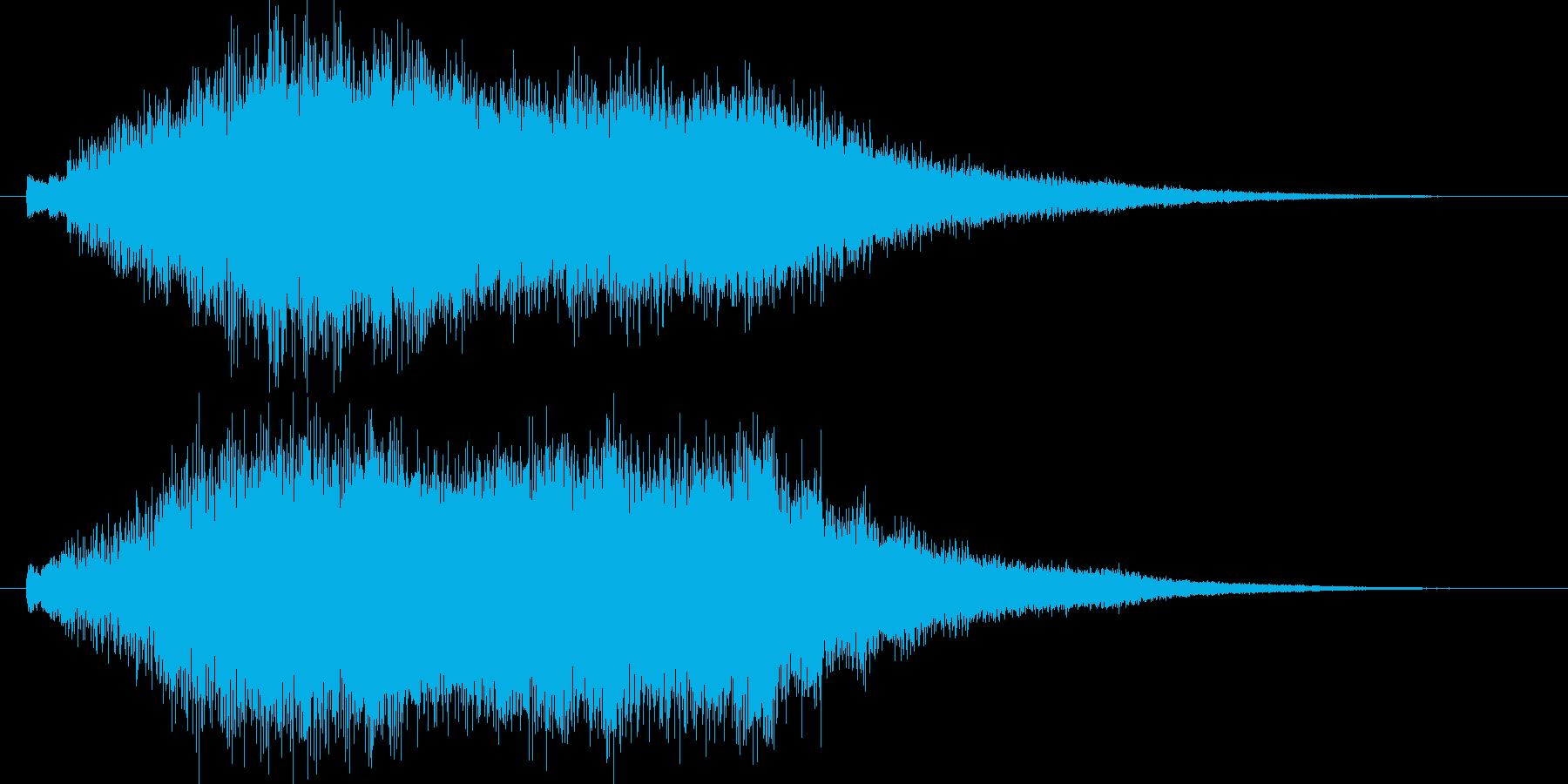 神秘的、宇宙的、シンセオープニング映像2の再生済みの波形