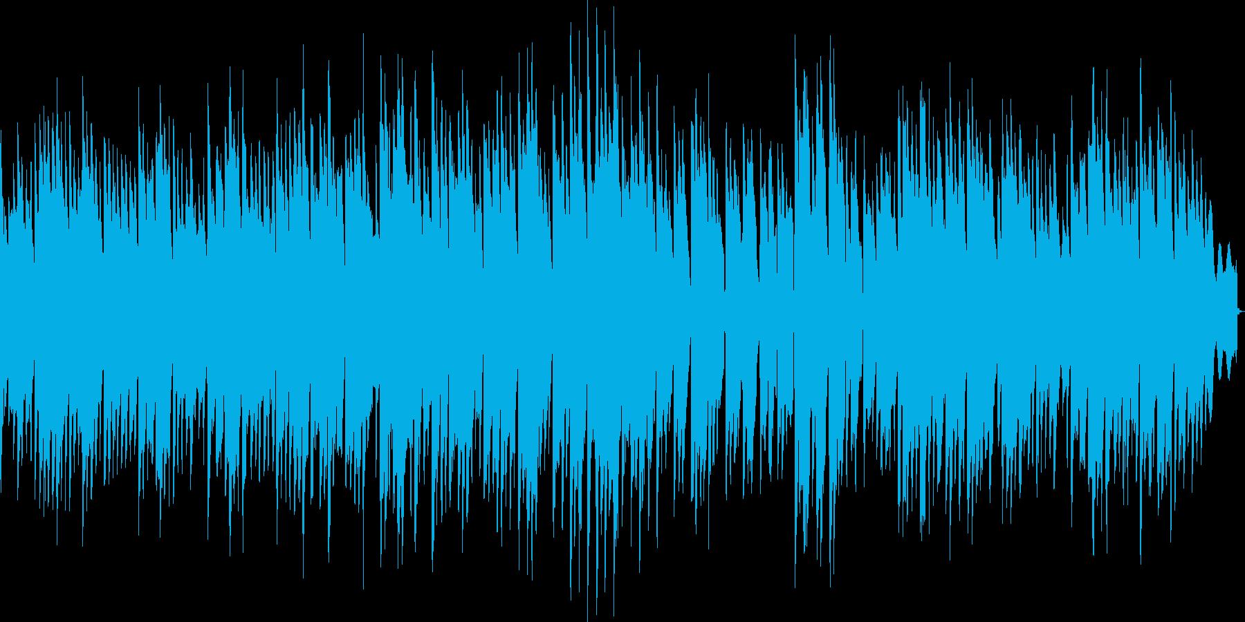黄昏た雰囲気のオルゴールの再生済みの波形