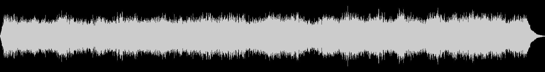 柔らかなパッド音によるアンビエント音の未再生の波形