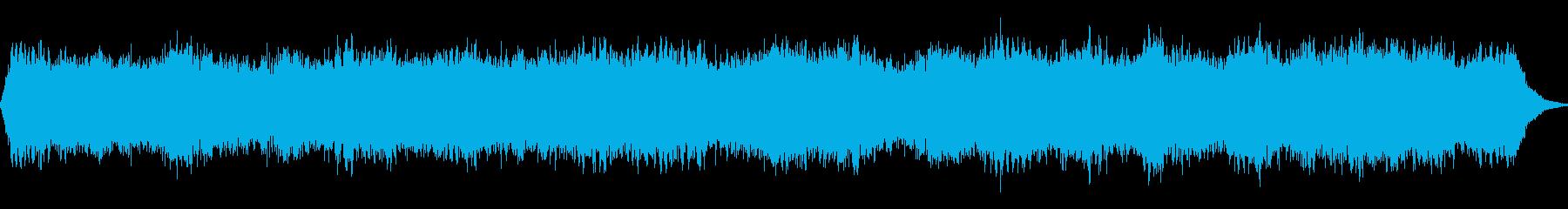 柔らかなパッド音によるアンビエント音の再生済みの波形