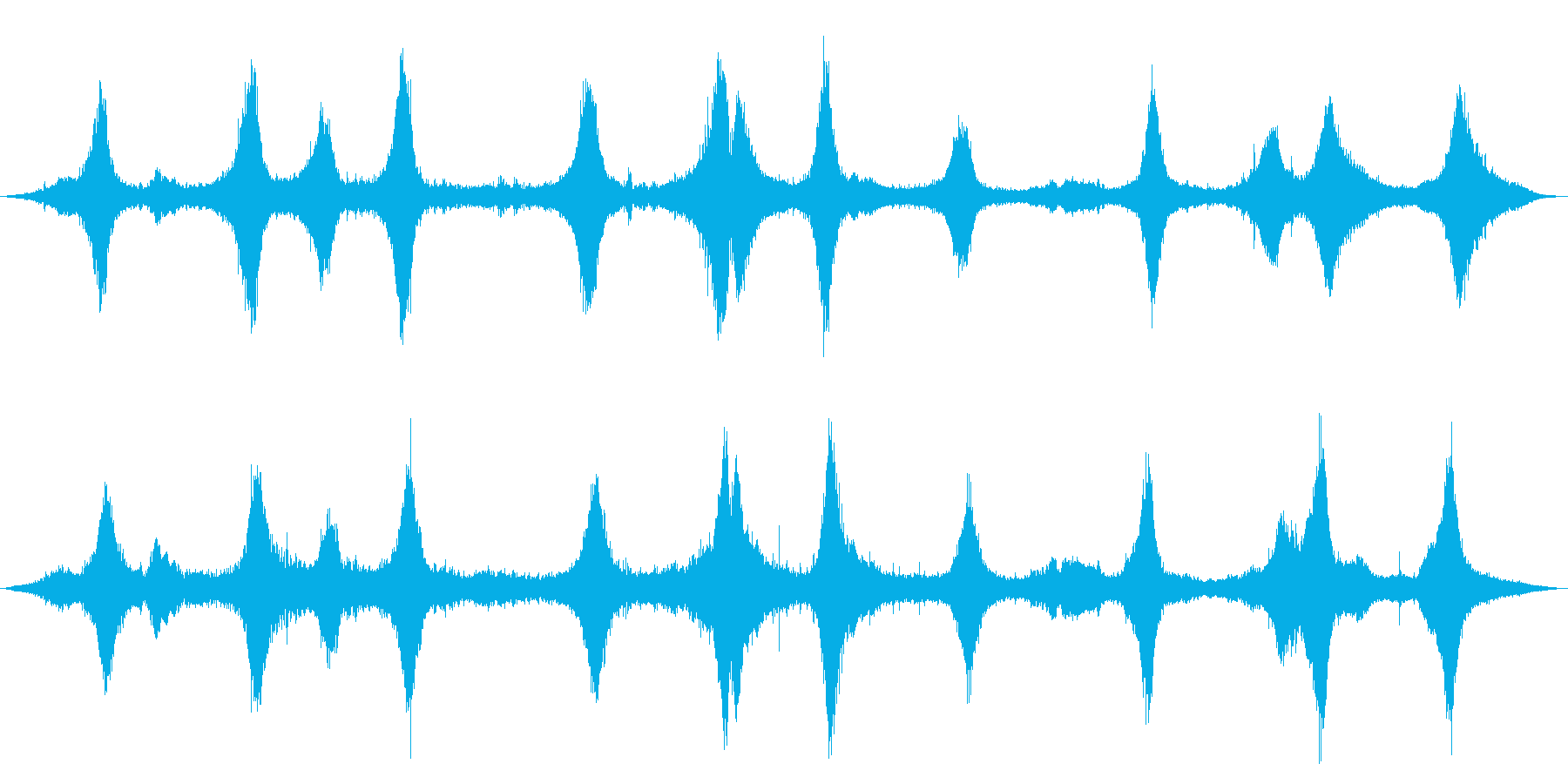 ツーレーンシティストリート:Wet...の再生済みの波形