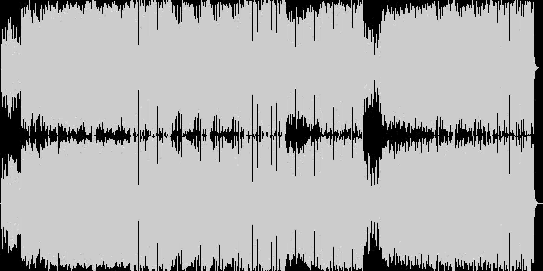 あわてんぼう、急ぐアップテンポBGMの未再生の波形