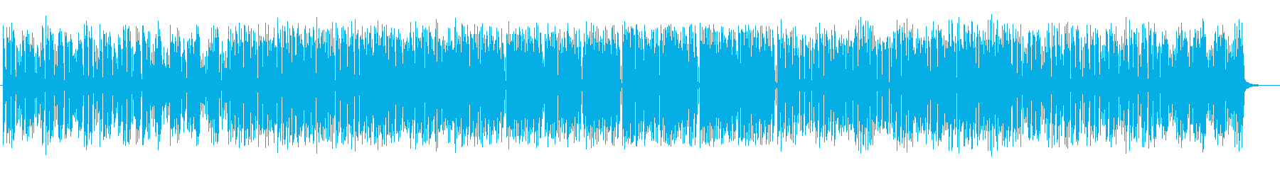 軽快なシンセサイザーのポップスの再生済みの波形